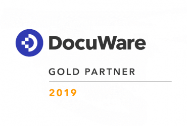 Das WUD DocuWare Gold Partner Logo 2019