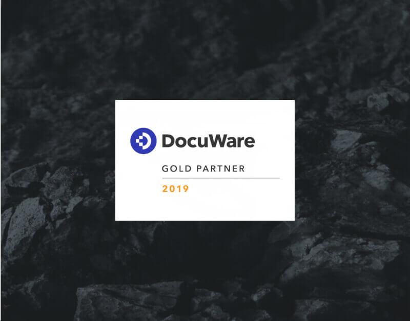DocuWare Dokumenten-Management - das Gold-Partner-Logo von WUD