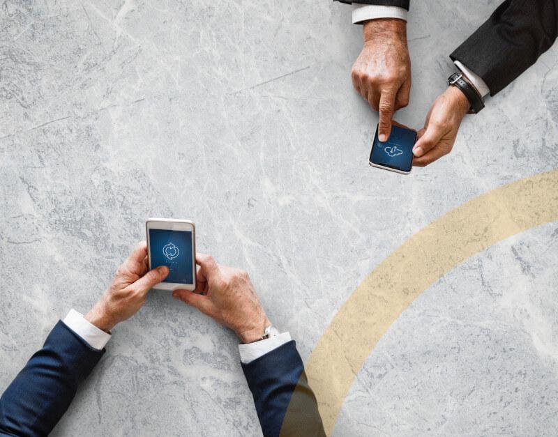 Das Hauptbild unserer mobilen Lösungsseite IT-Infrastruktur