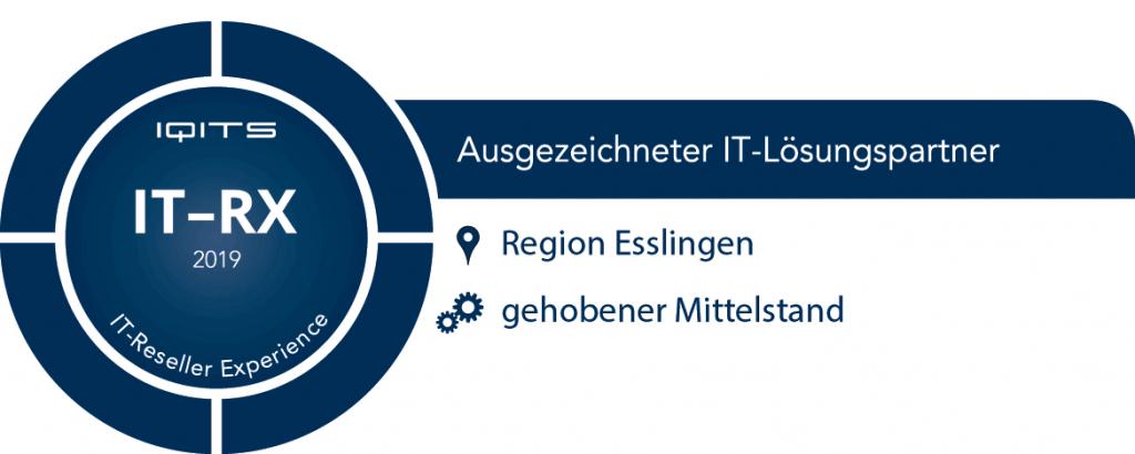 WUD ist laut IT-RX Methodik als Ausgezeichneter IT-Lösungspartner in der Region Esslingen ausgezeichnet worden