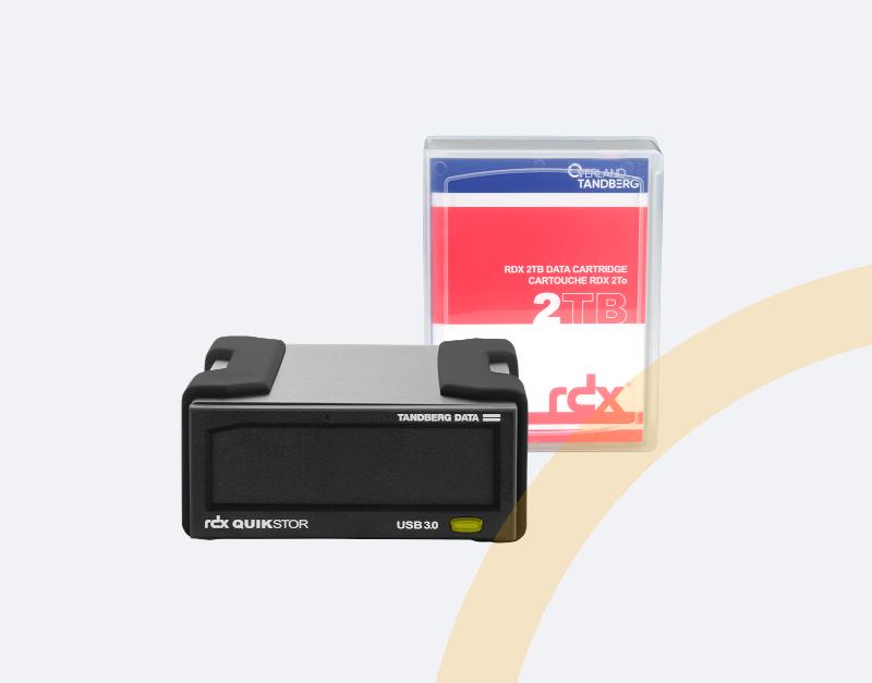 RDX Backup - unser Bundle und das Produkt von Tandberg, ein externes Laufwerk und ein Speichermedium-mobile Ansicht