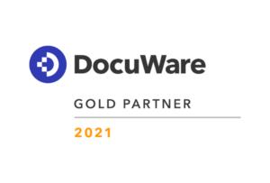WUD DocuWare Gold Partner 2021 Logo