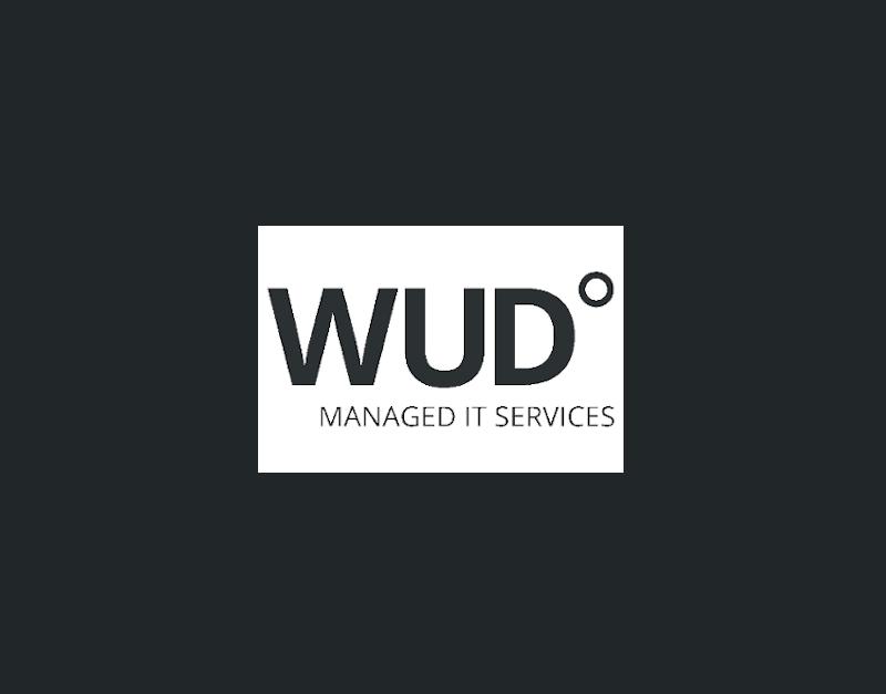 WUD Managed IT Services Hintergrundbild mit WUD-Logo-mobil