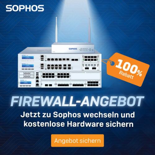 Sophos kostenlose Firewall-Banner