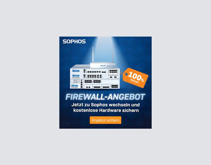 Sophos kostenlose Firewall-Hardware auf dem Besprechungstisch im Unternehmen-mobil